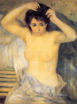 oil Works - Torso Before the Bath The Toilette female nude Pierre Auguste Renoir